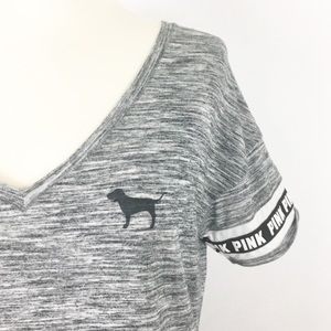 victoria's secret PINK | dog logo sleeve basic tee